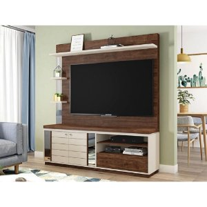 Estante Home Theater TV 60 Polegadas  Átrio Havana Off White