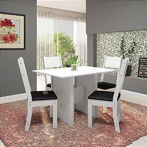 Mesa  De Jantar 4 Cadeiras Talita Indekes Branco
