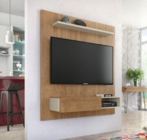 Painel de TV 50 Polegadas Dilleto  Buriti  Off White Caemmun