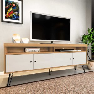 Rack de TV até 60 Polegadas Liberty Artely Carvalho Off White