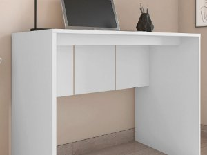 Mesa de Computador Cubic Branco 90 cm Caemmun BP