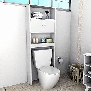 Armário Banheiro Com 2 Portas e 3 Prateleiras Slim Branco Appunto
