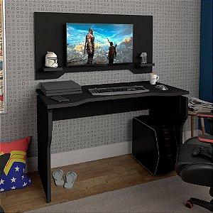 Escrivaninha Gamer Com Painel Artany Preto