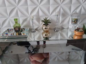 Bandeja De Servir Espelhada 40x30x4  Luxo