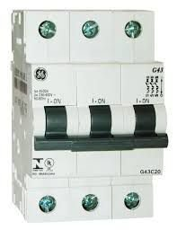 Mini Disjuntor 3P Curva C, Marca GE