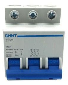 Mini Disjuntor 3P C 3Ka Ebc, Marca Chint
