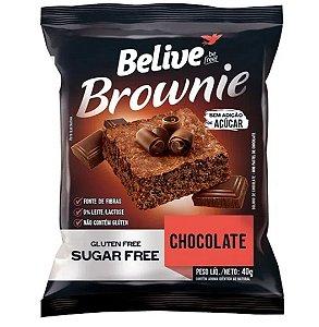 Brownie de chocolate sem glúten, sem leite/lactose e sem açúcar 40g - Belive