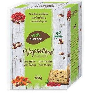 Veganottone - panetone vegano com frutas cristalizadas, cranberries e castanhas 360g - Nutfree