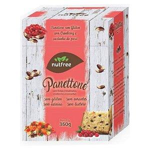 Panettone sem glúten e sem lactose com frutas cristalizadas, cranberries e castanhas 360g - Nutfree