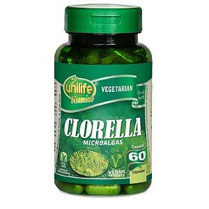 Clorella Microalgas 60 cápsulas - Unilife Vitamins