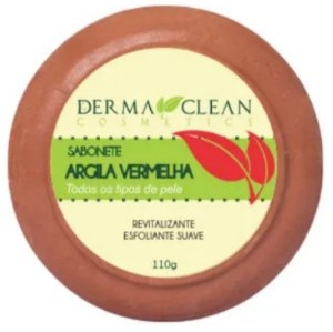 Sabonete de Argila Vermelha 110g – Derma Clean Cosmetics.