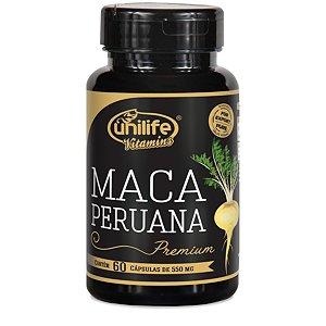 Maca Peruana Premium Pura – 60 Cápsulas de 550mg Cada – Unilife Vitamins