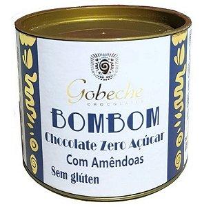 BomBom Chocolate zero açúcar com amêndoas sem glúten – contém 10 bombons de 12g cada – Gobeche