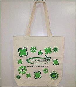 Ecobag Sacola Ecológica Estampa Flor - 100% NATURAL