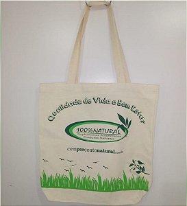 Ecobag Sacola Ecológica – Estampa Pássaros - 100% NATURAL