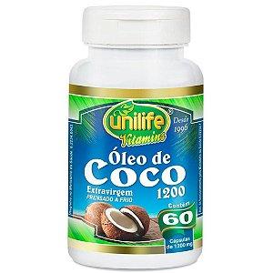 Óleo de coco extra virgem em cápsulas 1200mg – 60 cápsulas – Unilife.