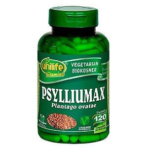Psylliumax - psyllium em cápsulas Plantago ovatae – 120 cápsulas de 550mg cada – Unilife.