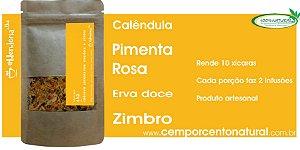 Blend para infusão: Calêndula, pimenta rosa, erva doce e zimbro 20g - Blenderia Curitiba