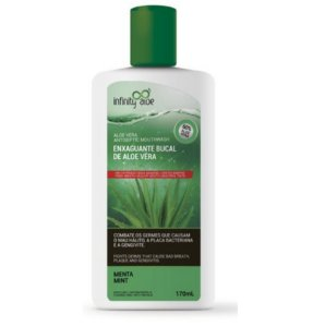 Enxaguante Bucal 60% Aloe Vera Menta Mint 170ml/ Com Própolis – Infinity Aloe