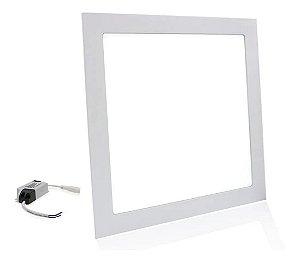 Plafon Painel Led 25w Embutir Quadrado Slim Luz Branco Frio