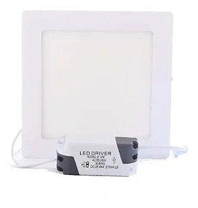 Painel Led Embutir 12w Quadrado 6500k luz branca