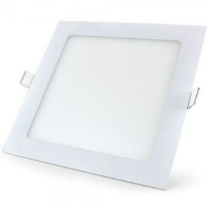 Kit 5 Painel Plafon Led Embutir Quadrado 6w Luminária - Branco Frio