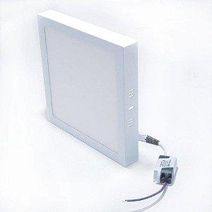 Plafon de 12w quadrado br nco frio ou quente