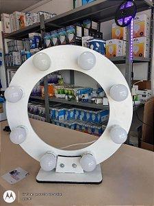 Moldura Redonda Camarim Ring Light 40cm Com 6 Bocal E Fiação+6 lampadas led 3w