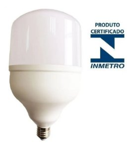 Lâmpada Super Led Bulbo E27 Bivolt Branco Frio 6500k Inmetro 30w