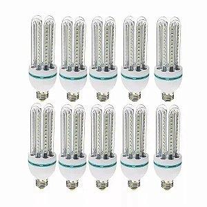 Kit 10 Lampada Led 12w Soquete E27 Milho 6500k Bivolt