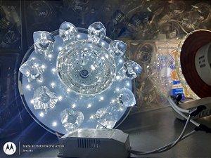 Lustre espelhado Cristal Led
