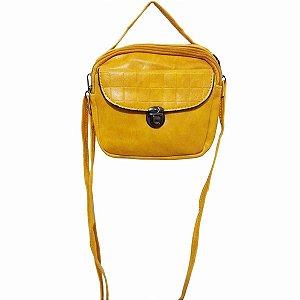 Bolsa amarelo mostarda pequena