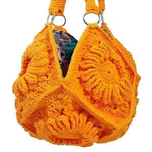 Bolsa de crochê para praia