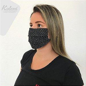 Máscara de proteção - REF 319 PRETO/BRANCO