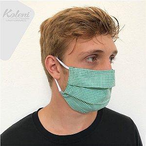 Máscara de proteção - REF 125 VERDE/BRANCO XADREZ