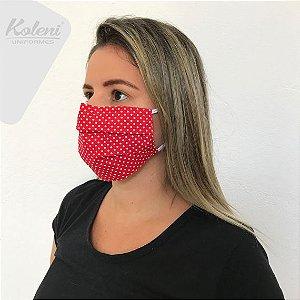 Máscara de proteção - REF 423 VERMELHO/BRANCO