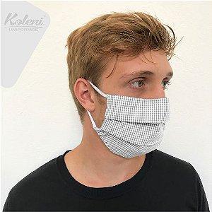 Máscara de proteção - REF 127 CINZA/BRANCO XADREZ