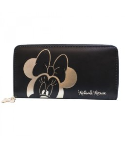 Carteira Feminina Minnie Mouse Detalhes Dourados - Disney