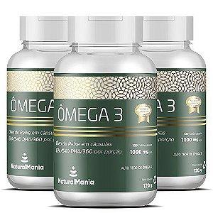 Combo 3 Frascos de Omega-3 com 120 cápsulas cada