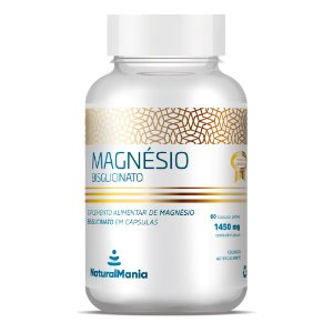 Suplemento alimentar de Magnésio Bisglicinato em cápsulas