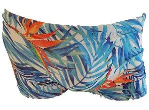 Sunga de Praia Boxer Arara Azul