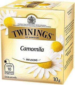 CHÁ DE CAMOMILA TWININGS CAIXA C/ 10 SAQUINHOS 10G