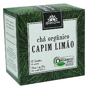 CHÁ ORGÂNICO CAPIM LIMÃO CX C/ 10 SACHES KAMPO DE ERVAS 10G