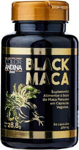 MACA PERUANA BLACK COLOR ANDINA FOOD 60 CAPSULAS