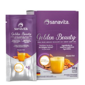 GOLDEN BEAUTY CAIXA C/ 15 SACHES SANAVITA 60G