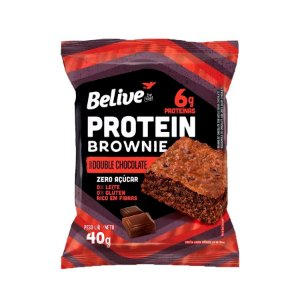 BROWNIE DOUBLE CHOCOLATE COM WHEY PROTEIN BELIVE 40G
