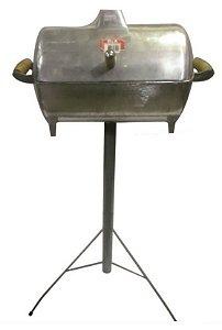 Churrasqueira Bafo Alumínio Batido P com pé