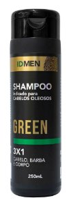SHAMPOO 3X1 GREEN CABELOS OLEOSOS 250mL