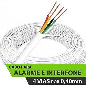 Cabo para Alarme e Interfone - 4 x 40 (4 Vias de 0,40mm) - Telecam