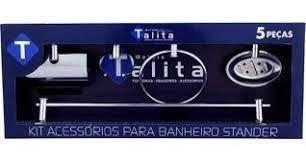 KIT ACESSÓRIOS TALITA 5 PC 9010 STANDER METAL CROMADO